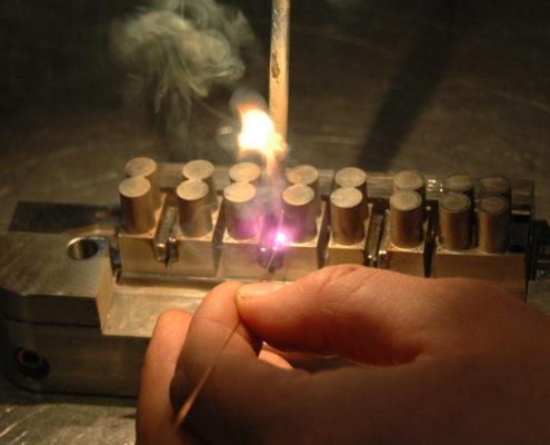 Laserschweissen Material auftragen